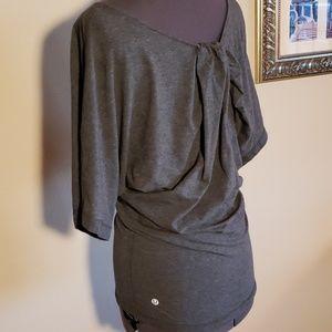 Lululemon gray knot top